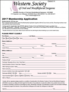 General Membership Application, 2018